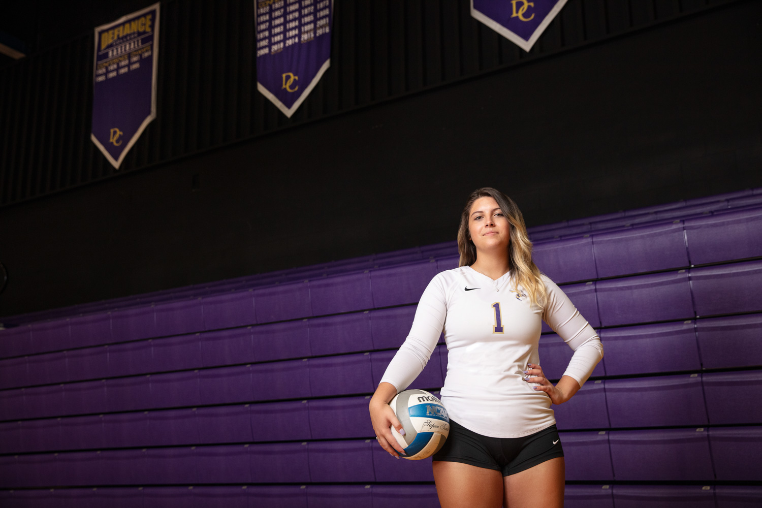Defiance College Volleyball Player