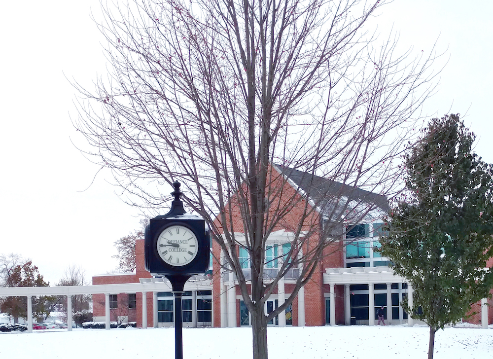 Admin Hall in winter