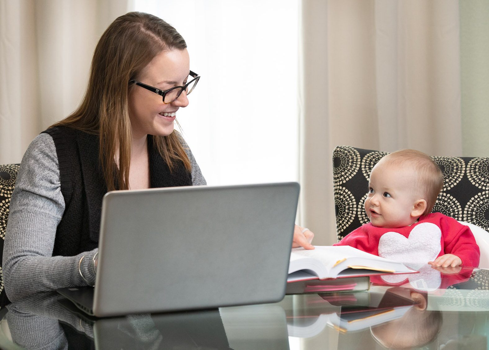 DC Graduate Student at Home with Child