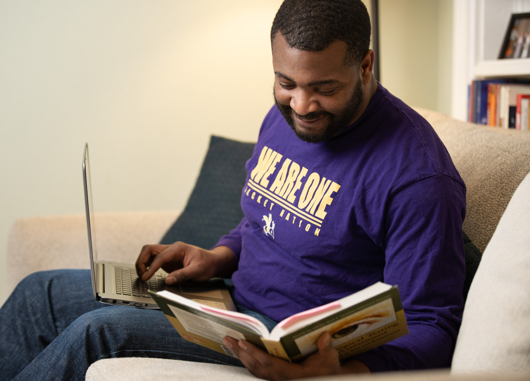 DC Graduate Student Studying at Home