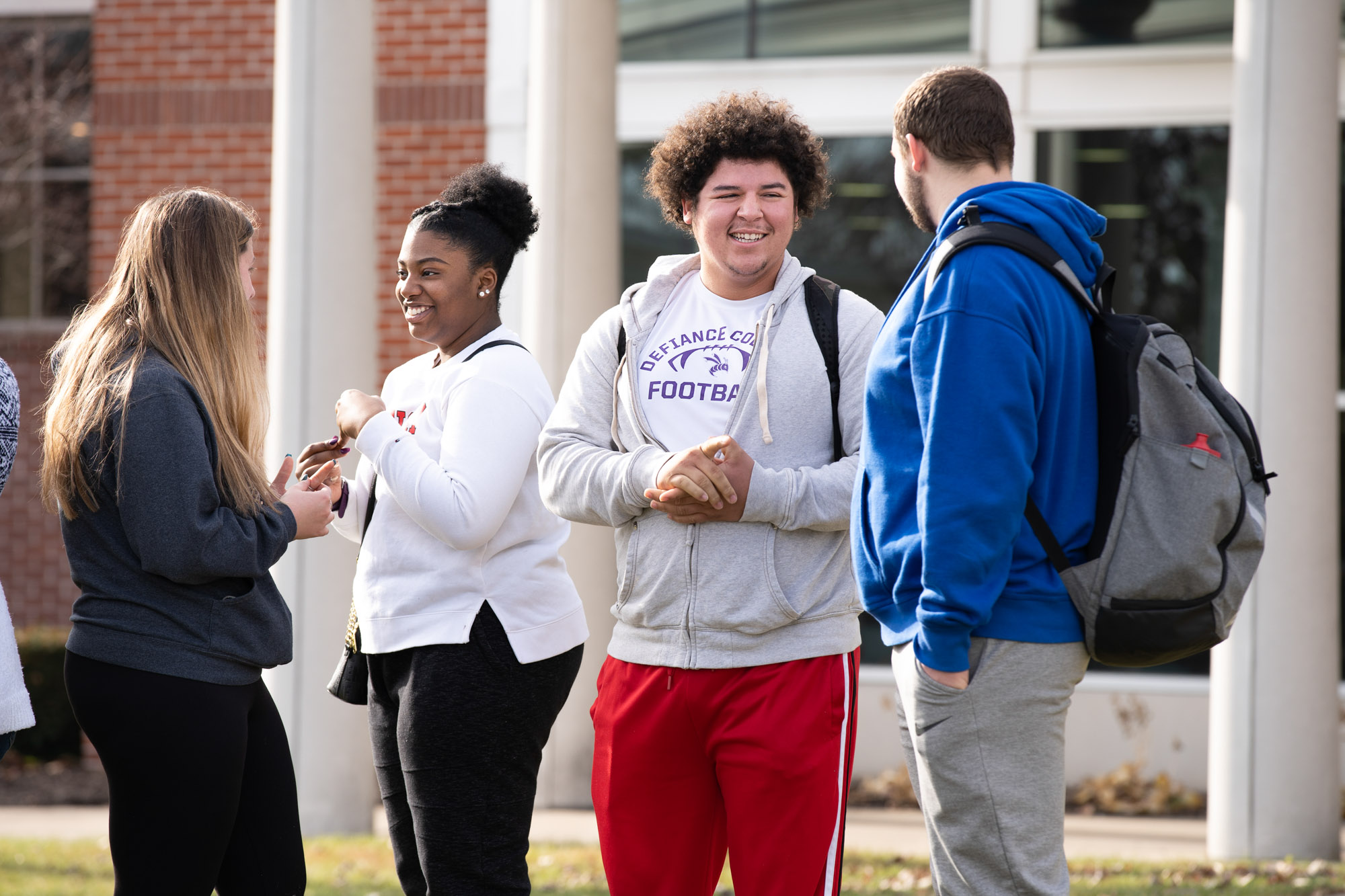 Defiance College students on campus