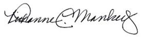 Dr. Richanne Mankey signature